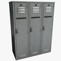 3d model metal lockers