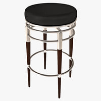 3dsmax metal swivel bar stool