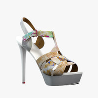 3d model girl shoes