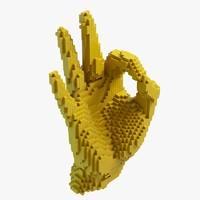 maya pixel palm