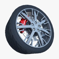 maserati granturismo s wheel tire 3ds
