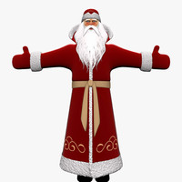 russian grandfather frost 3d model