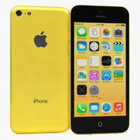 apple iphone 5c yellow 3d max