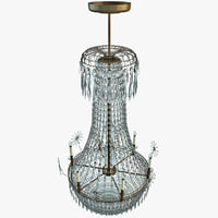 chandelier interior modelled lwo