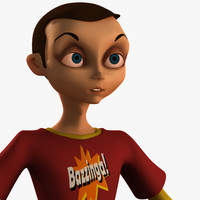 3d model of character sheldon