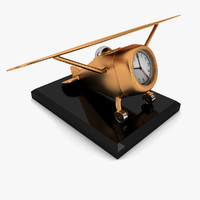 decorative airplane 3d