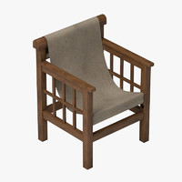 modern chair mallet 3d 3ds