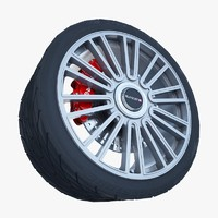 mansory wheel tire 3ds