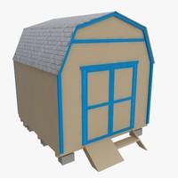 storage building 3d model
