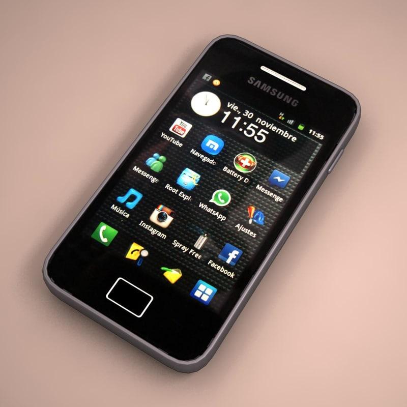 3d samsung galaxy ace smartphone model. Black Bedroom Furniture Sets. Home Design Ideas