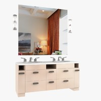 3ds max bathroom furniture set waterworks