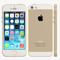 3d apple iphone 5s gold