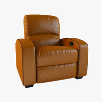 Home Theater Leather Recliner Armchair