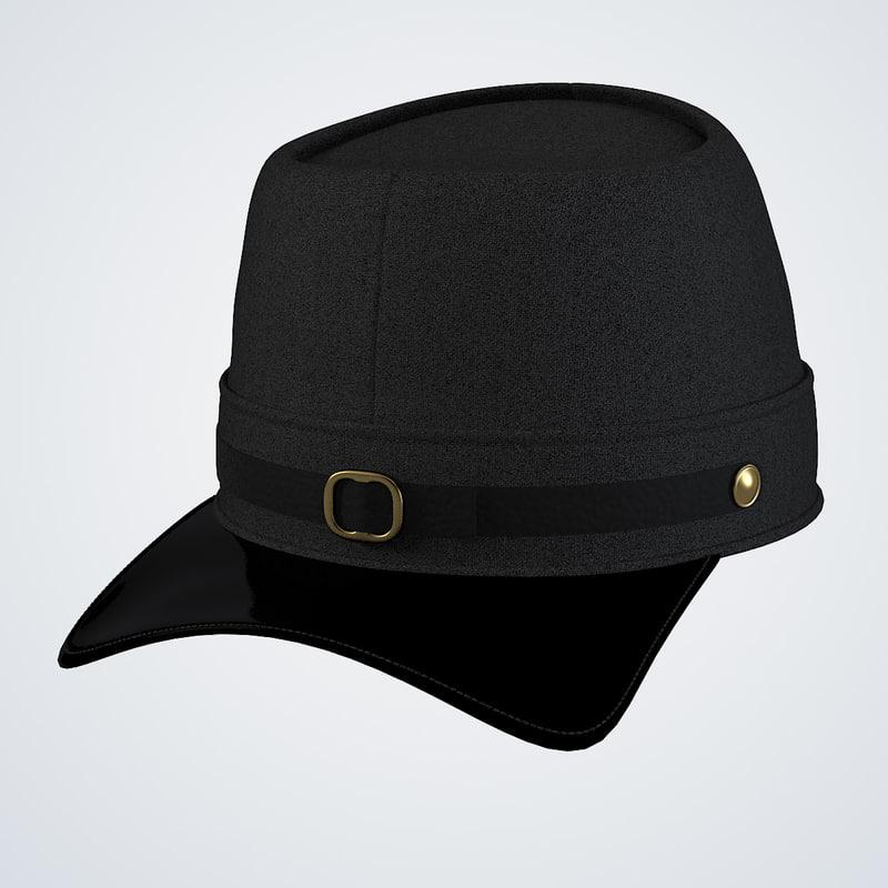 b Navy Blue Union Civil War Hat men0001.jpg