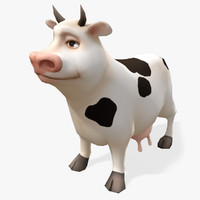 Real-Time Cartoon Cow