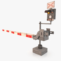 3d train crossing signal model
