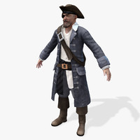 pirates lord real-time 3d model