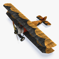Sopwith Camel WWI Low Poly Aircraft