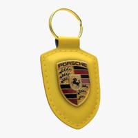 3d model porsche keychain