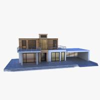 house modern 3d obj