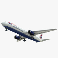 3d el of 767 british airways