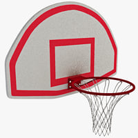 3ds basketball hoop curved backboard