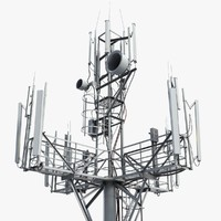 3d communication tower antena 1