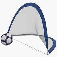 3ds portable soccer goals set