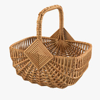 Wicker Shop Basket