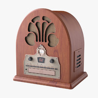 photoreal radio crosley cathedral 3d 3ds