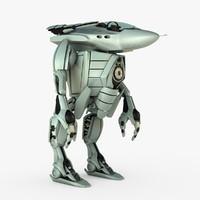 fbx realistic mech robot