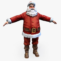 Real-Time Santa 3D Game Model