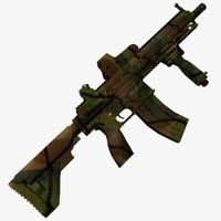 3d model m416 rifle