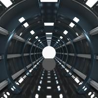 s futuristic corridor