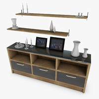 cupboard accessories 3d c4d