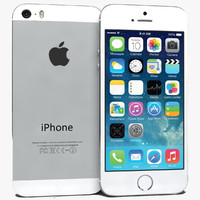 3d model apple iphone 5s silver