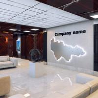 3d office lobby