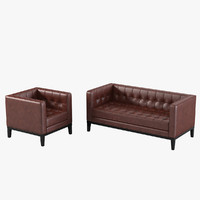 Armen Living Brades Loveseat & Chair Set