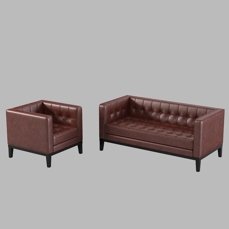 b  armen living brades armchair sofa set loveseat tufted buttoned modern contemporary settee kensington collection0001.jpg