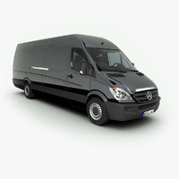 mercedes-benz sprinter long 3d model