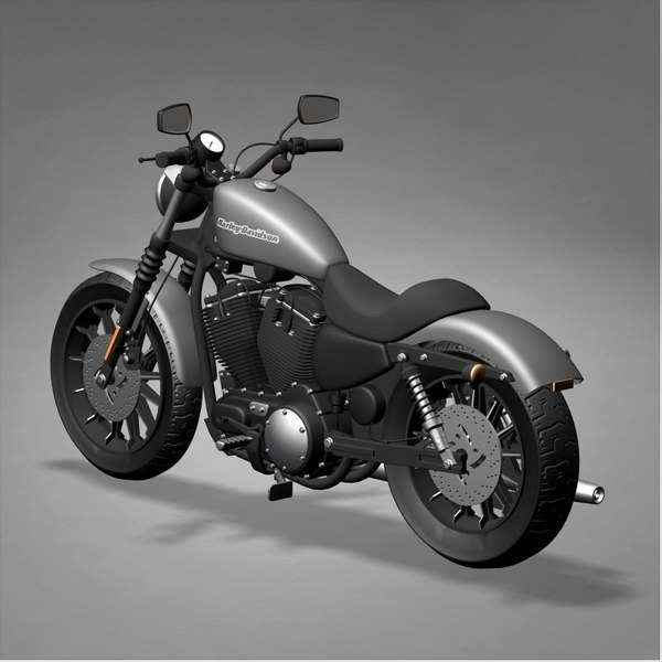 Harley Davidson With Turbo: Harley Davidson Iron 883 3d Model