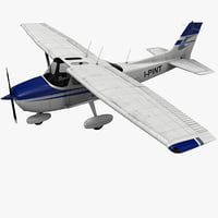 civil utility aircraft cessna 172 3d model