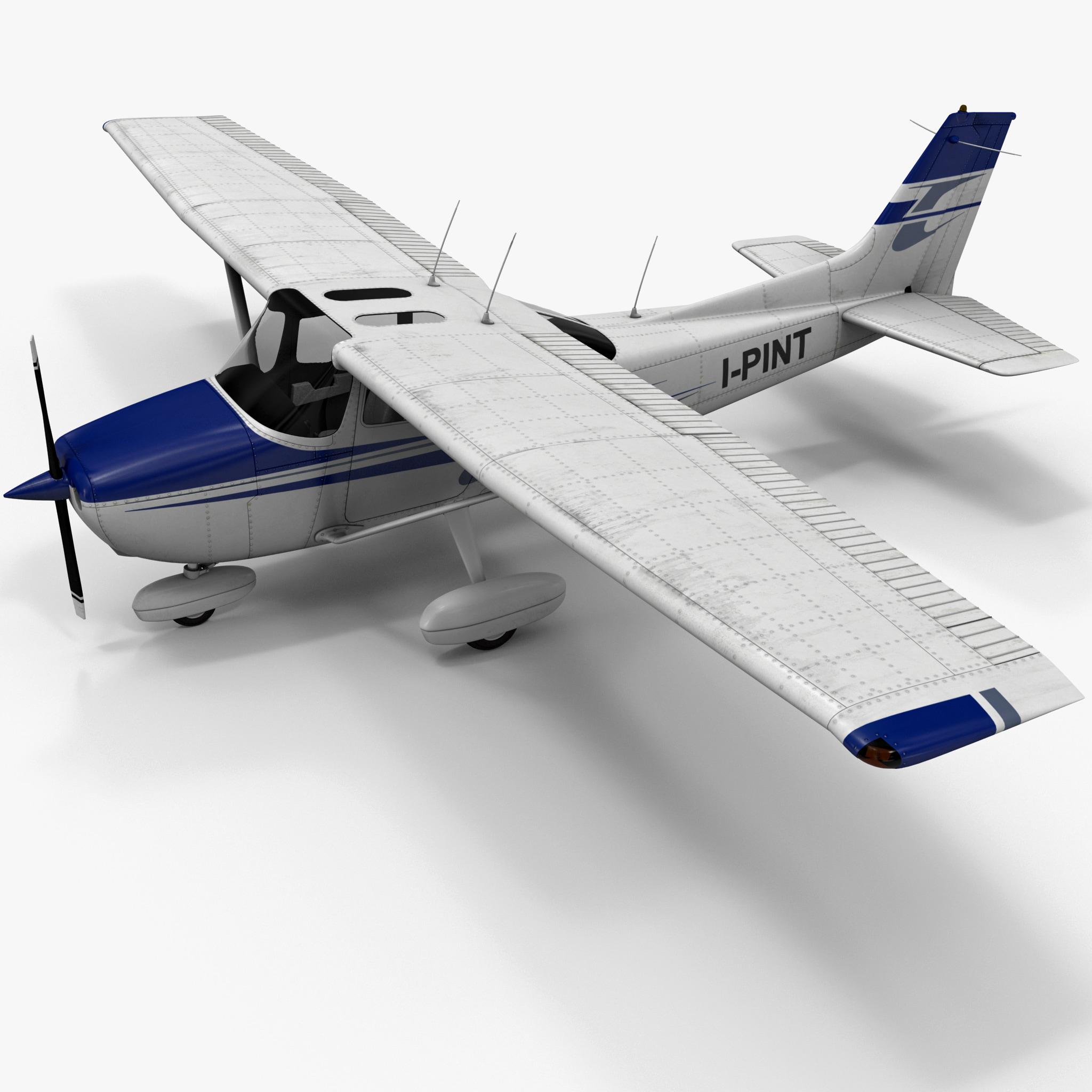 Civil Utility Aircraft Cessna 172 3d Model