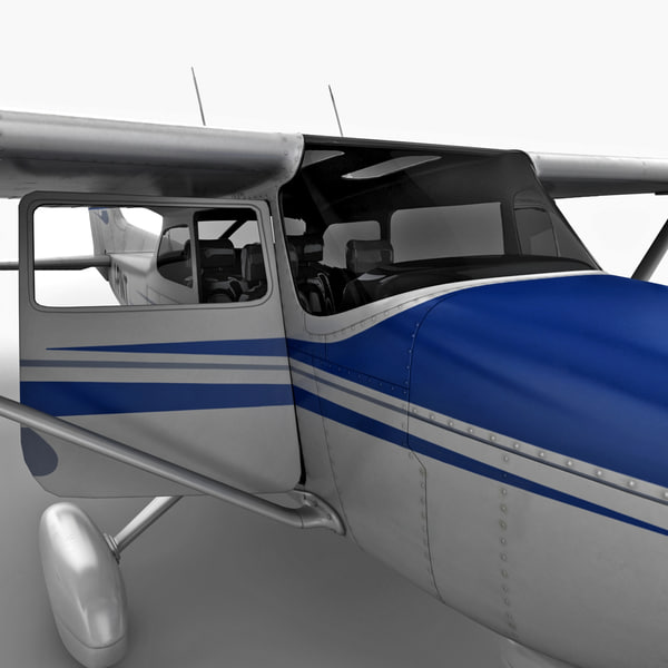 civil utility aircraft cessna 172 3d model - Civil Utility Aircraft