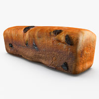 raisin bread 3D models