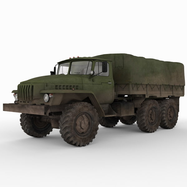 3ds max russian army 6x6 truck russian army 6x6 truck ural 4320