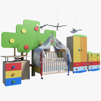 children s furniture 3d obj