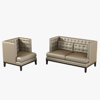 Brooklea Loveseat & Armchair By Armen Living