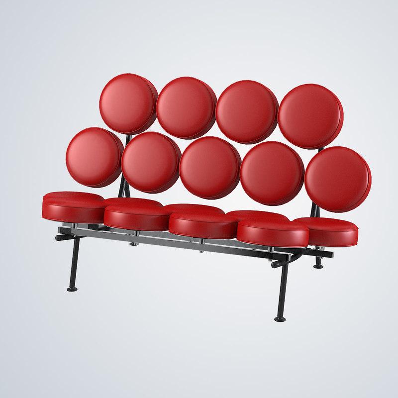 b Nelson Marshmallow Sofa George nelson modern contemporary artistic designer design famous disk round herman miller0002.jpg