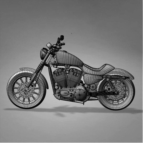 Harley Turbo Review: Harley Davidson Iron 883 3d Model
